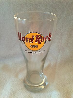 HARD ROCK CAFE ATLANTIC CITY TALL  BEER GLASS 16 Oz