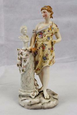 Antique 19th Century Rudolstadt Volkstedt Classical Figurine ~ The Arts Sculptor