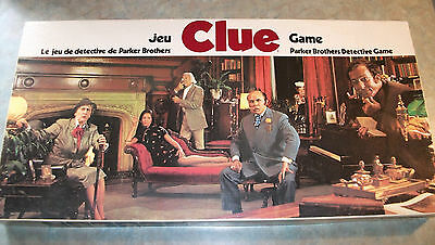 Vintage 1972 Clue Board Game French/english Canadian Edition --- Complete