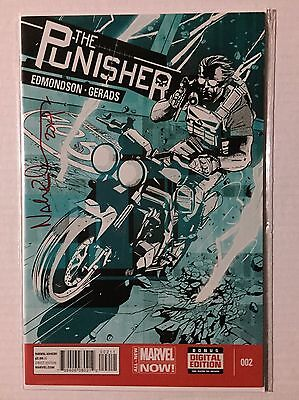 The Punisher #2 Marvel Now Signed By Writer Nathan Edmondson DF COA 3 Of 11 Ltd