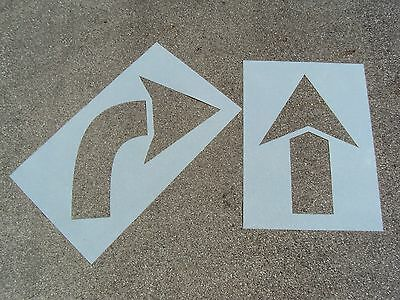 "40"" Parking Lot Arrow Stencils; MATCHING HEIGHT 1/16"" Re-Usable LDPE Plastic"
