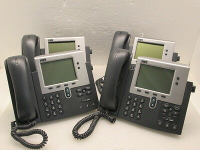 Lot 4 Cisco CP-7940G IP VOIP Business 2-Line Phones - Tested - Ships Today!