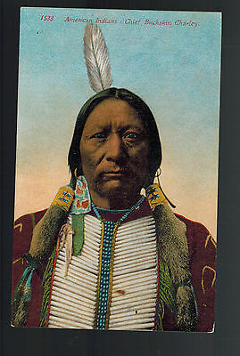 Mint PPC Picture Postcard Cover Native American Indian Chief Bucksin Charley