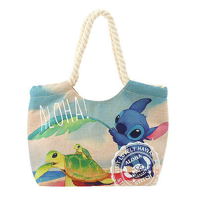 F/S Lilo and Stitch 15th Anniversary Disney store  Tote bag Stitch