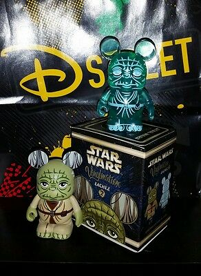 Disneys star wars eachez yoda set le 250 variant and le 2250 vinylmation