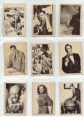 The Man From Uncle - A & Bc Gum - 1965 - Full Set 55 Cards + Empty Wrapper