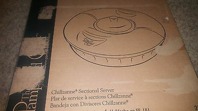 Pampered Chef Chilzanne Sectional Server  #2791 New Dealer Show Pieces  Nib