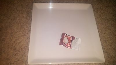 """Pampered Chef Simple Additions S White 15"""" Platter New"""