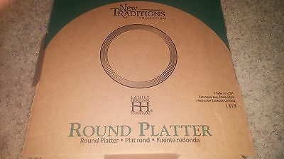 """Pampered Chef New Traditions 14""""round Platter #1318 Nib"""