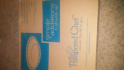 Pampered Chef Simple Additions Dots Large Round Bowl #2033 Nib
