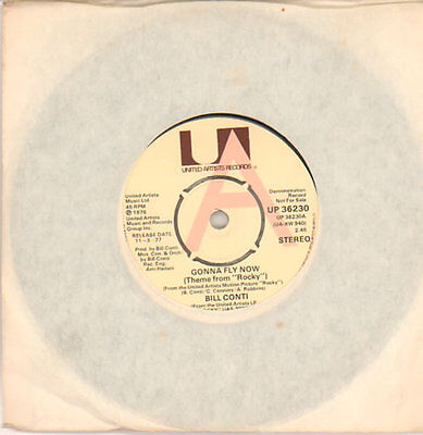 "Bill Conti 7"" vinyl single record Gonna Fly Now (Theme from 'Rocky') UK promo"