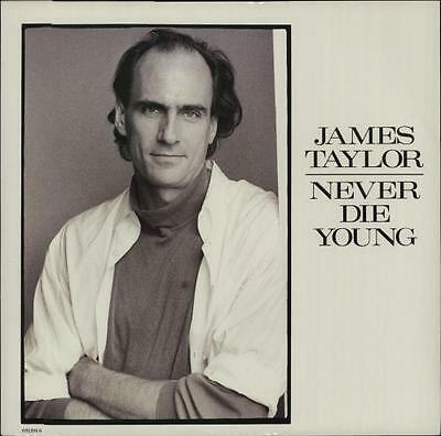 "James Taylor 12"" vinyl single record (Maxi) Never Die Young UK promo 6512046"