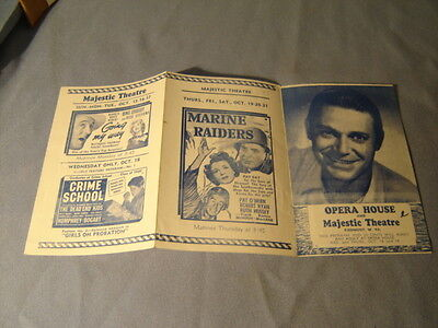 Vintage Going My Way Crime School Invisible Man's Revenge Movie Herald