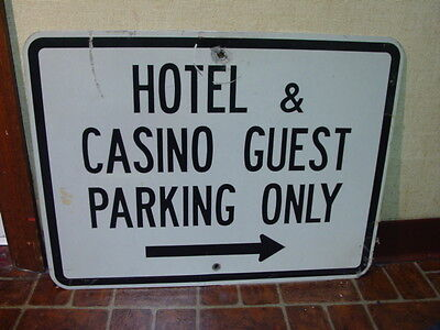Vintage Hotel & Casino Guest Parking Only Sign Atlantic City Las Vegas Man Cave