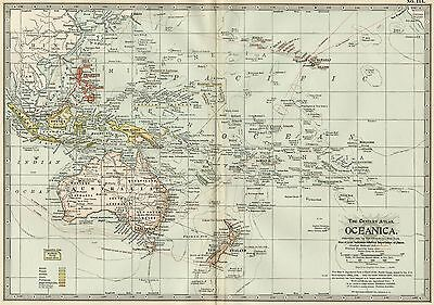 Oceanica Map: Authentic 1897 (Dated) Cities, Towns, Ports, & Sea Routes