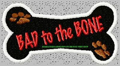 BAD to the BONE PET BIKER PATCH