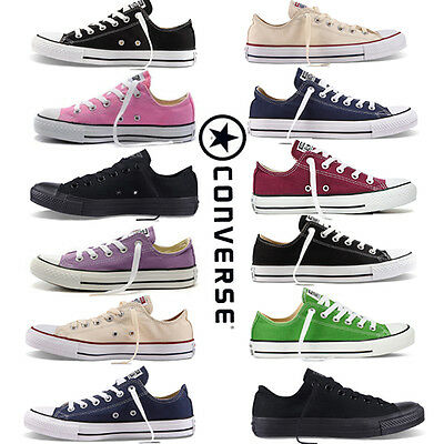 Women's All-Star Chuck Taylor Low Top Trainers 9 Colors Full Size canvas Shoes