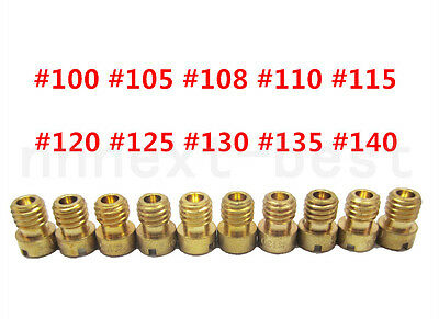 10 Pcs set Main Jet For PWK Keihin OKO CVK Carburetor injectors 100 105 108 …140