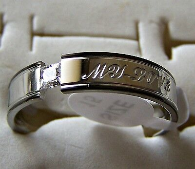 My _ Love   ~ S/steel  ~ Size:15  ~ Black_Rim ~ Ring -- (Great_Christmas_Gift)