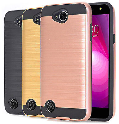 For LG X Power 2 / LG X Charge Case Brushed Armor Hybrid Shockproof Phone Cover