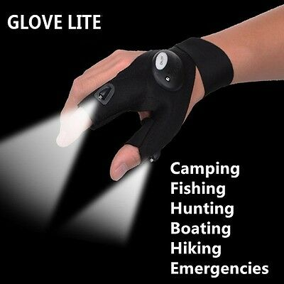 LED Light Gloves Work Camping Fishing Outdoor Night Dark Free Postage
