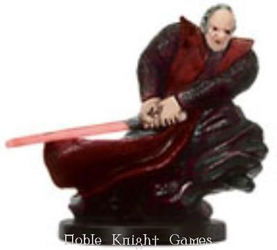 WOTC Star Wars Minis Champions o/t Forc Darth Sidious - Dark Lord of the Si SW