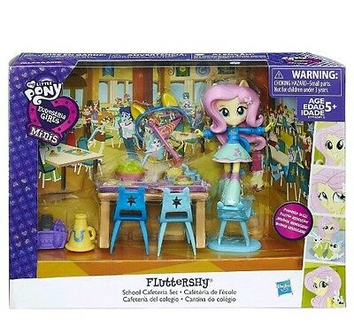 My Little Pony Equestria Girls Minis Fluttershy School Cafeteria Set HASBRO Doll