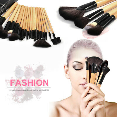 24 PZ Professionale Make Up Brush Set Pennelli Fondotinta Trucco Pennelli IG