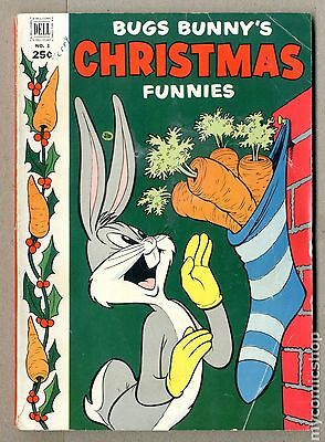 Dell Giant Bugs Bunny's Christmas Funnies (1950) #3 GD+ 2.5 LOW GRADE