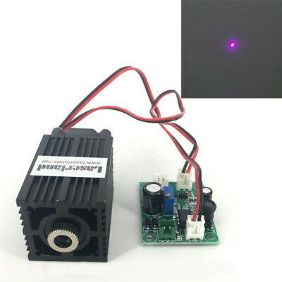 33*50mm Focusable 405nm Violet Blue Laser Diode Module Dot/Line/Cross with Fan