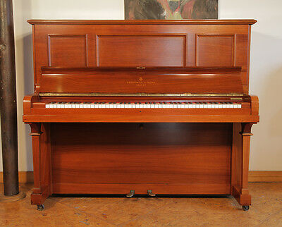 Reconditioned, 1913, Steinway Vertegrand upright piano with a rosewood case