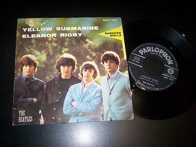 "The Beatles ‎– Yellow Submarine / Eleanor Rigby 7"" Parlophon QMSP 16397 Italy"