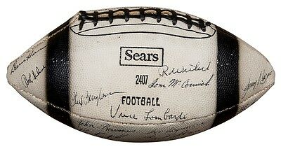 GREEN BAY PACKERS - 1967 Super Bowl II Team Signed ball Including LOMBARDI