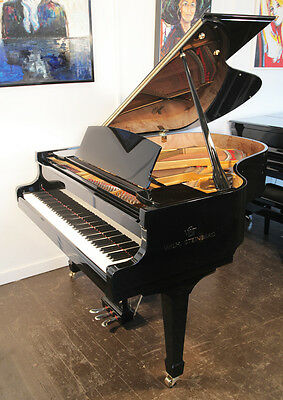 New, Steinberg WS-T166 grand piano with a black case and carbon fibre action