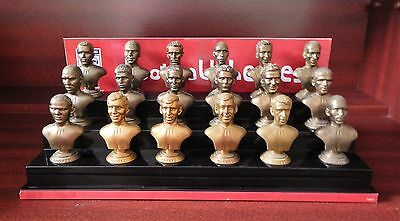Sainsburys England World Cup 2006 Corinthian Busts Complete Set  + Display Stand