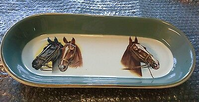 FR Gray & Sons WH Grindley White Granite Vitrified Horse Dish China