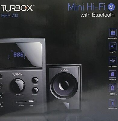Mini Cadena Turbox Mhf-200 Mini Hi-Fi Bluetooth 2.1-Radio Fm-Usb-Lector Sd+Mando