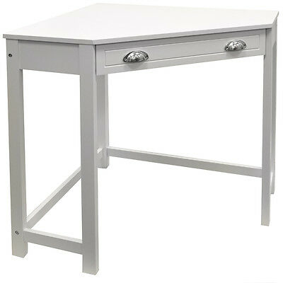 Wooden Corner Computer Desk / Dressing Table / Workstation - White OF1096