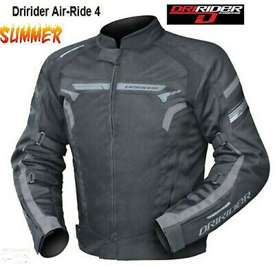 Dririder AIR RIDE 4 Motorcycle Jacket NEW Blk/Grey Vented summer all sizes Road