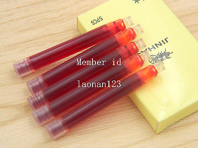 10pcs Jinhao fountain pen ink cartridges RED+ Brand assurance