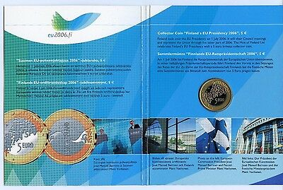 Finland 5 Euro Presidency EU 2006 Official Booklet High Condition !!!
