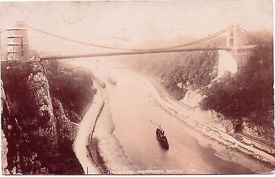 RP  Vintage Postcard CLIFTON Suspension Bridge 7468 Postmark  Bristol Dec 14 10