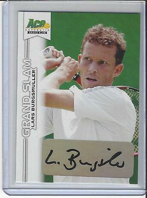 2013 Ace Authentic Grand Slam Tennis Auto Autogramm Autograph Lars Burgsmüller