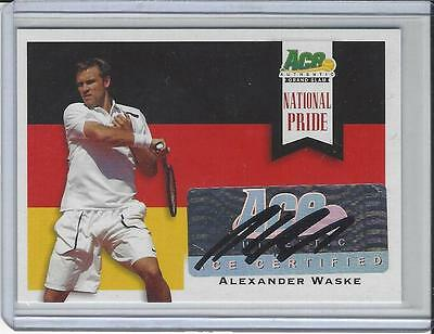 2013 Ace Authentic Grand Slam Tennis National Pride Auto Alexander Waske
