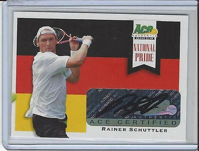 2013 Ace Authentic Grand Slam Tennis National Pride Auto Rainer Schüttler