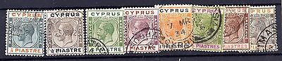 Cyprus KGV 1924/8 Set To 18pi Fine Used X6871