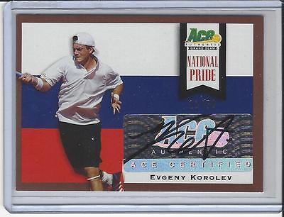 2013 Ace Authentic Grand Slam Tennis National Pride Brown Evgeny Korolev 11/50