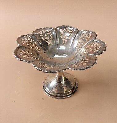 LOVELY SOLID SILVER SWEET DISH, BIRM 1907, 87.4g / 3.08oz