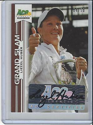 2013 Ace Authentic Grand Slam Tennis Brown Auto Autogramm Liezel Huber 4/50