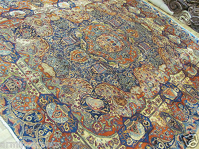 A MAGICAL OLD HANDMADE KASHMAR PERSIAN ORIENTAL CARPET (360 x 294 cm)